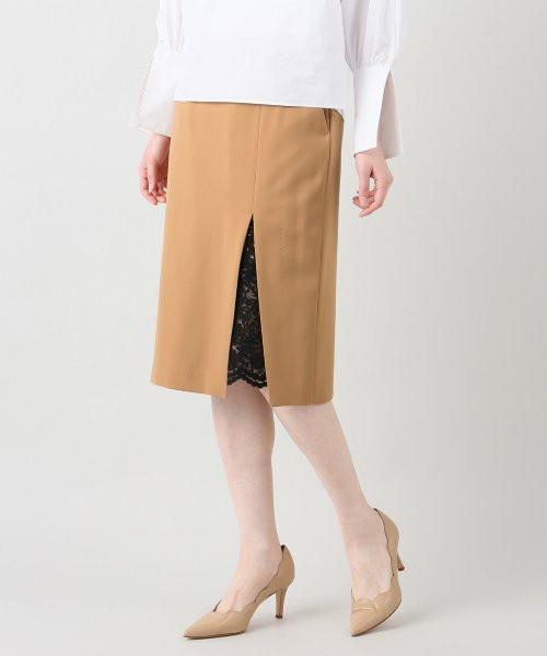 『隠すのが美しい』とされる日本特有の文化の影響か、動いたときにスリットから脚の肌の色があらわになるのが気になってしまう、そんなお悩みをお持ちの方はいませんか?日本女性に以外と多い悩みなんです。こちらのスリットスカートはスリット部分にレースが施され気になる部分をカーテンのように隠してくれる、正に日本人女性の心を掴んだ?優秀アイテム!