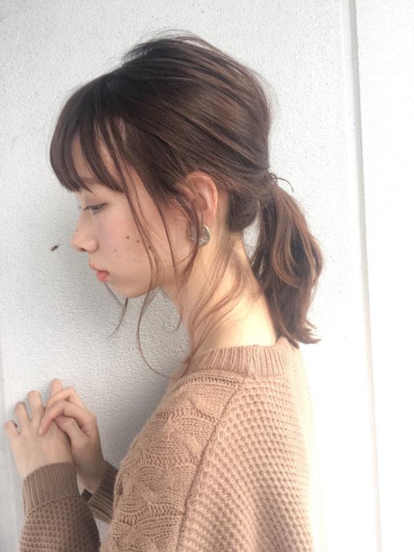 ミディアムのまとめ髪2