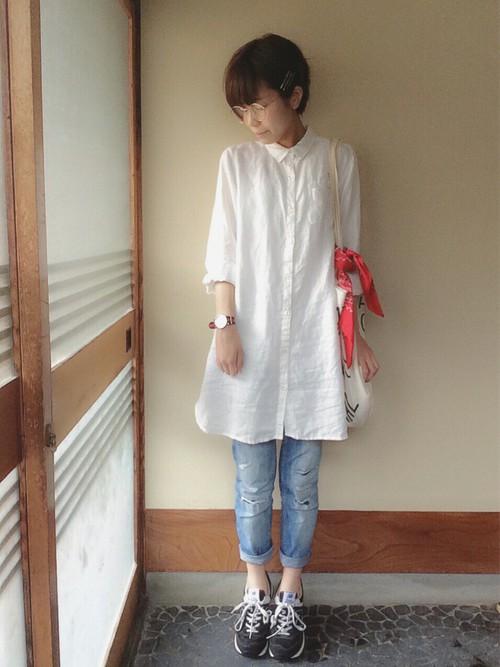 MUJI 白シャツ1