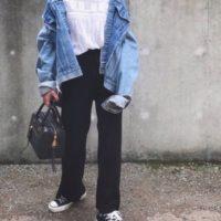ビッグシルエットが可愛い♡オーバーサイズのデニムジャケットを使ったコーデ集