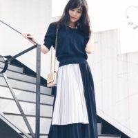 プリーツスカートコーデ49選♡フェミニンスタイルを愛する女性たちに大人気