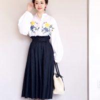 ネイビースカートコーデ50選☆おしゃれ感のあるカラーで素敵な女性を目指そう♪
