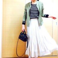 ゆれ感が女性らしい♡ユニクロのシフォンプリーツスカートで春の装いを♪