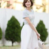 チュールスカートコーデ50選♡人気カラー別にご紹介♪