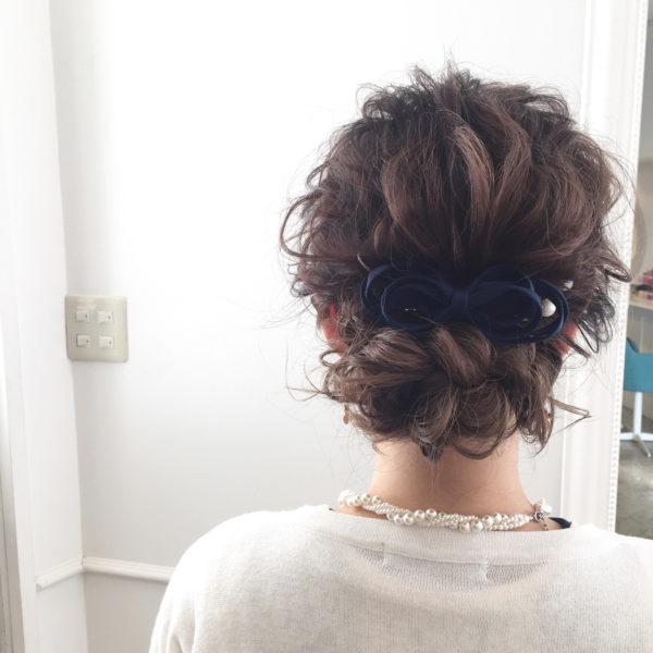 バレッタを使ったまとめ髪3