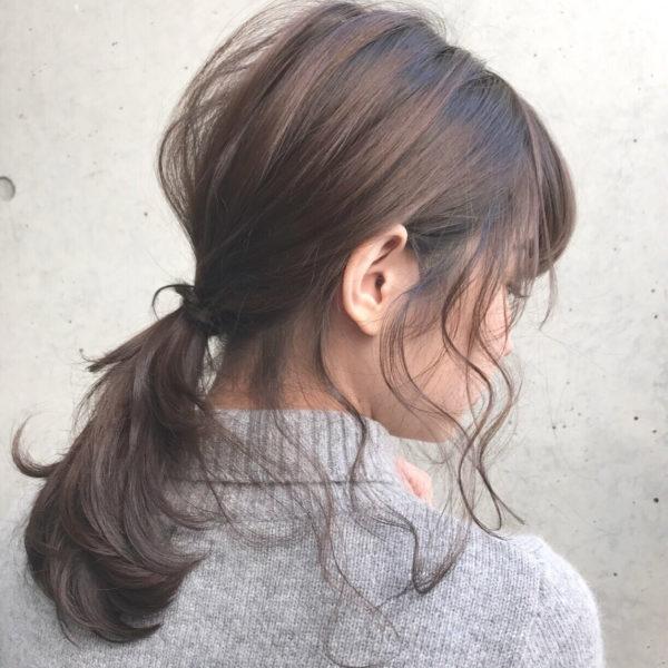 ミディアムのまとめ髪