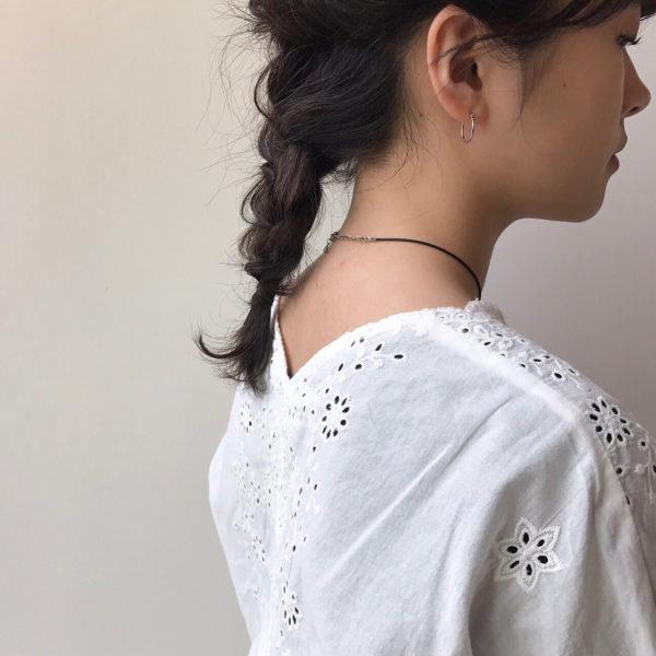 ミディアムのまとめ髪6
