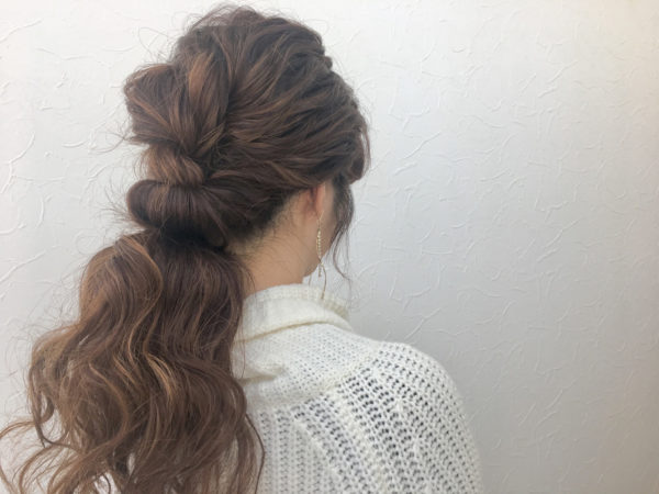 ロングのまとめ髪5