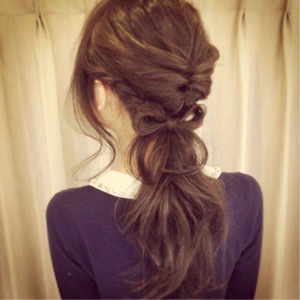 ロングのまとめ髪3
