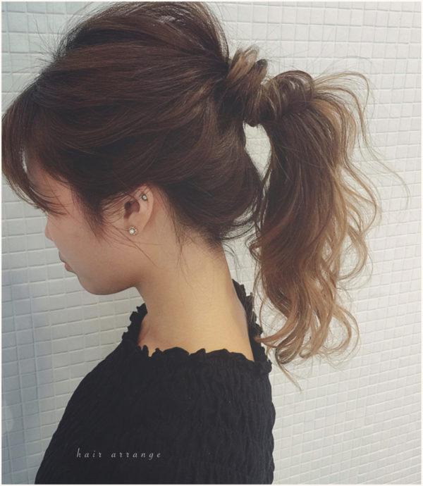 ミディアムのまとめ髪4