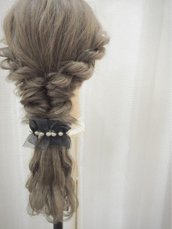 バレッタを使ったまとめ髪2