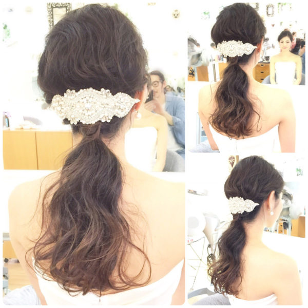 ロングのまとめ髪7
