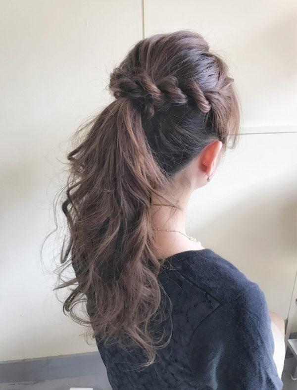 ロングのまとめ髪