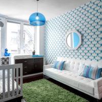 ライトブルーのお部屋がかわいい。春のインテリアコーデはライトブルーコーデ!