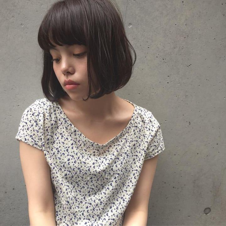 【黒髪】ストレートボブ17
