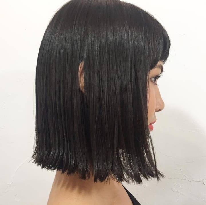 【黒髪】ストレートボブ18