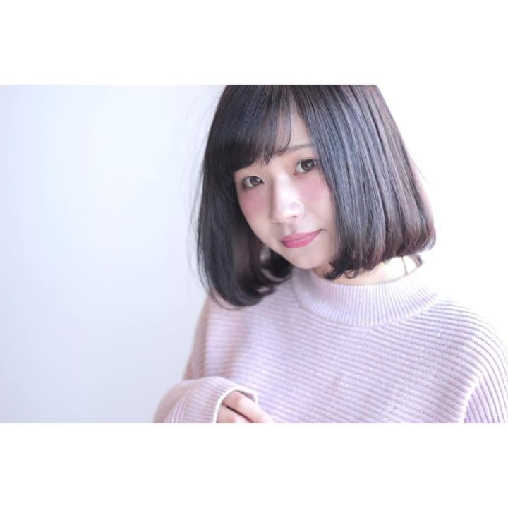 【黒髪】ストレートボブ19