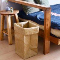 無造作に置いてもサマになる☆紙袋と100均のペーパーストレージバッグで簡単収納!