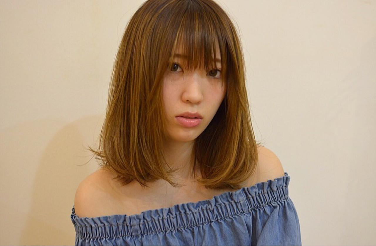 内巻きパーマ ミディアム7
