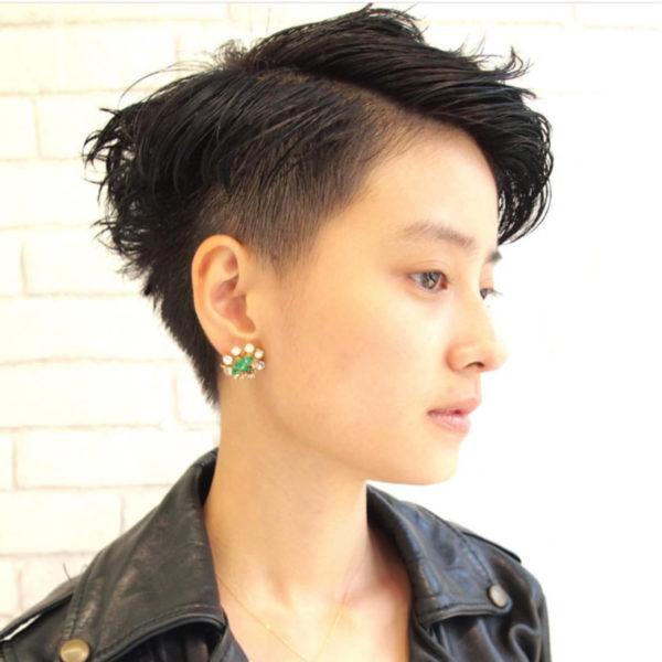 髪の質を活かしたストレート11