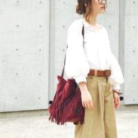 「パンツ」×「ボリューム袖トップス」で大人可愛いく♡この夏おすすめのトレンドコーデ集
