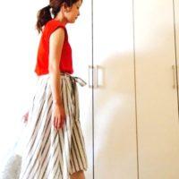 ユニクロ&GUで見つけた夏の「赤」コーデ15選!メインでもポイントでも可愛いカラー♡