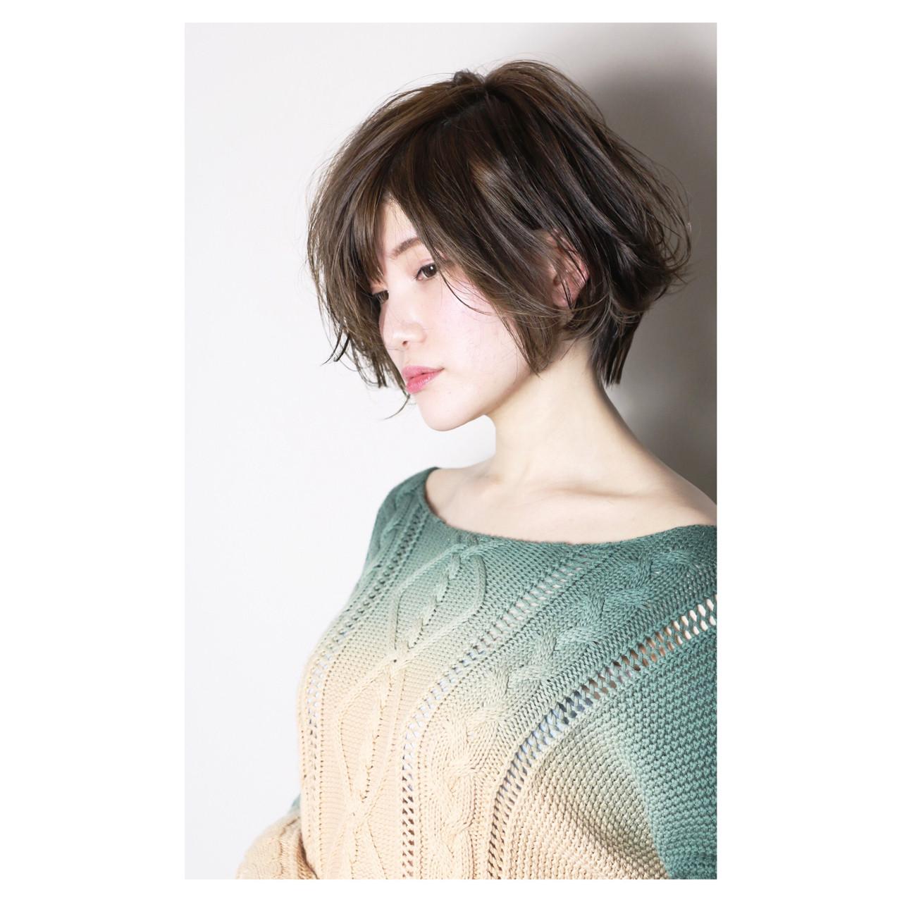 ショートボブのヘアアレンジ43