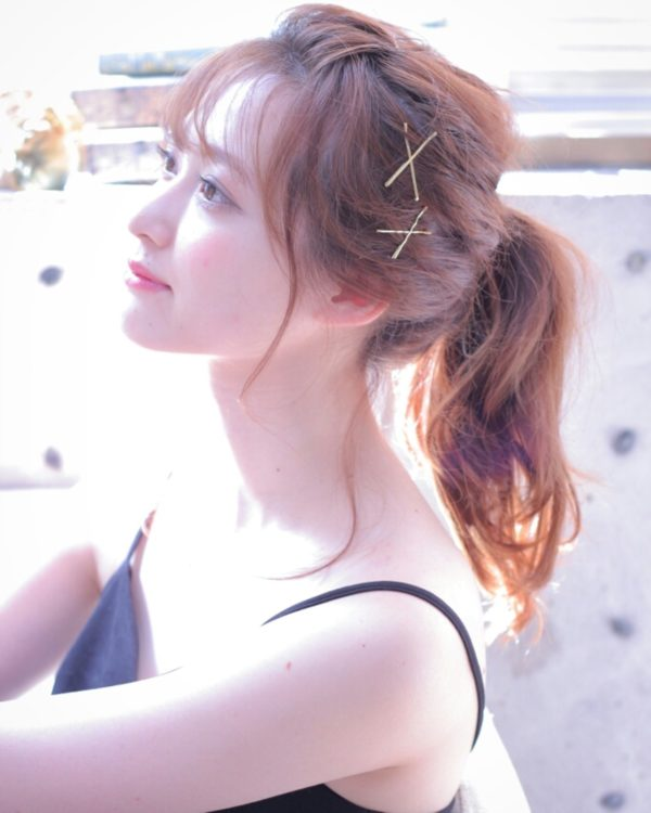 前髪アレンジ2