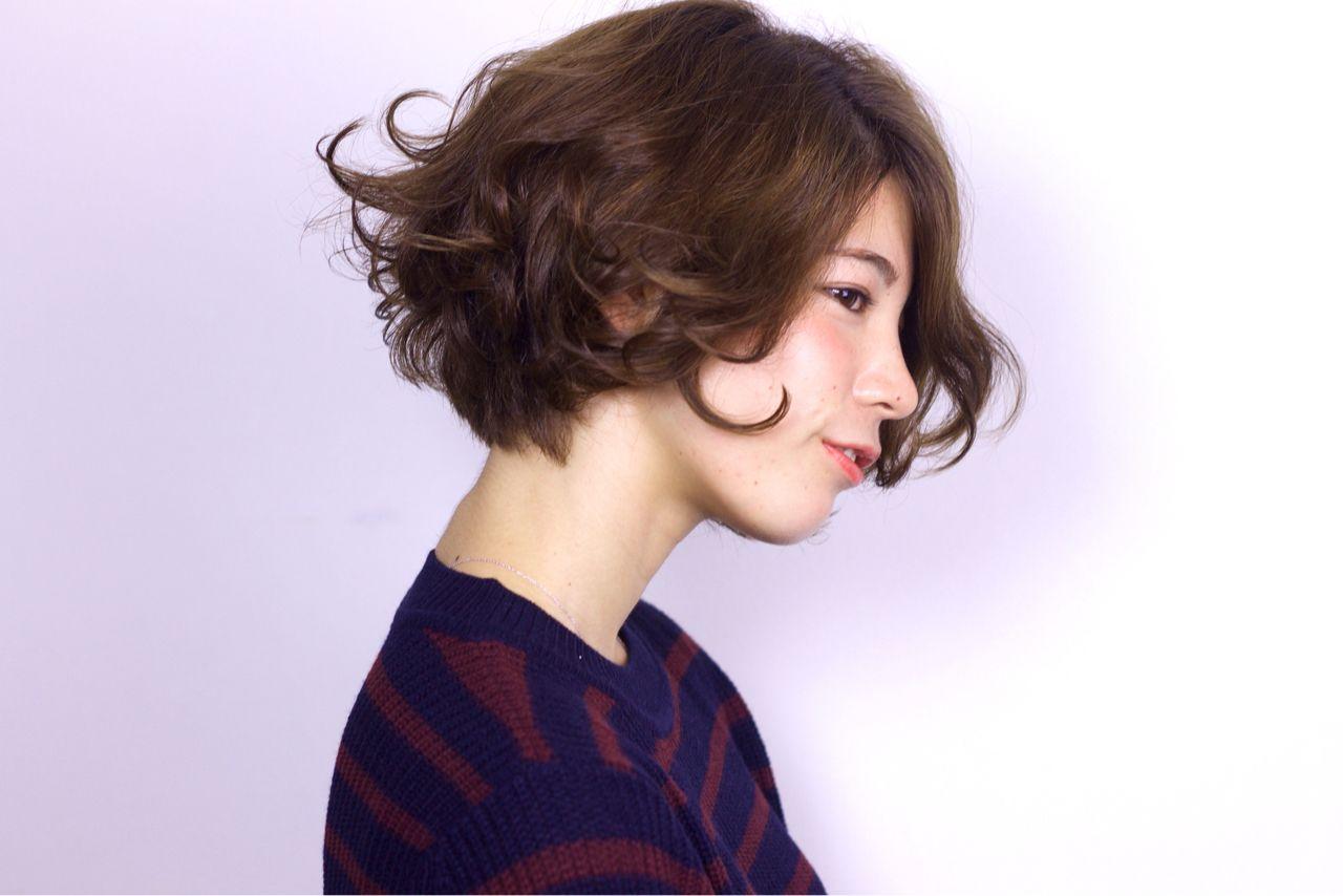 ショートボブのヘアアレンジ4