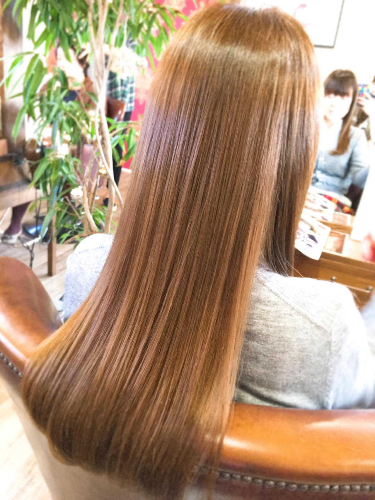 ロングの髪型!ストレートをヘアカラーでアレンジ12