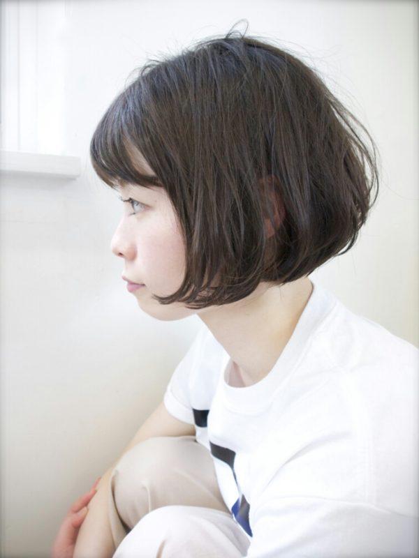 黒髪ボブパーマ4