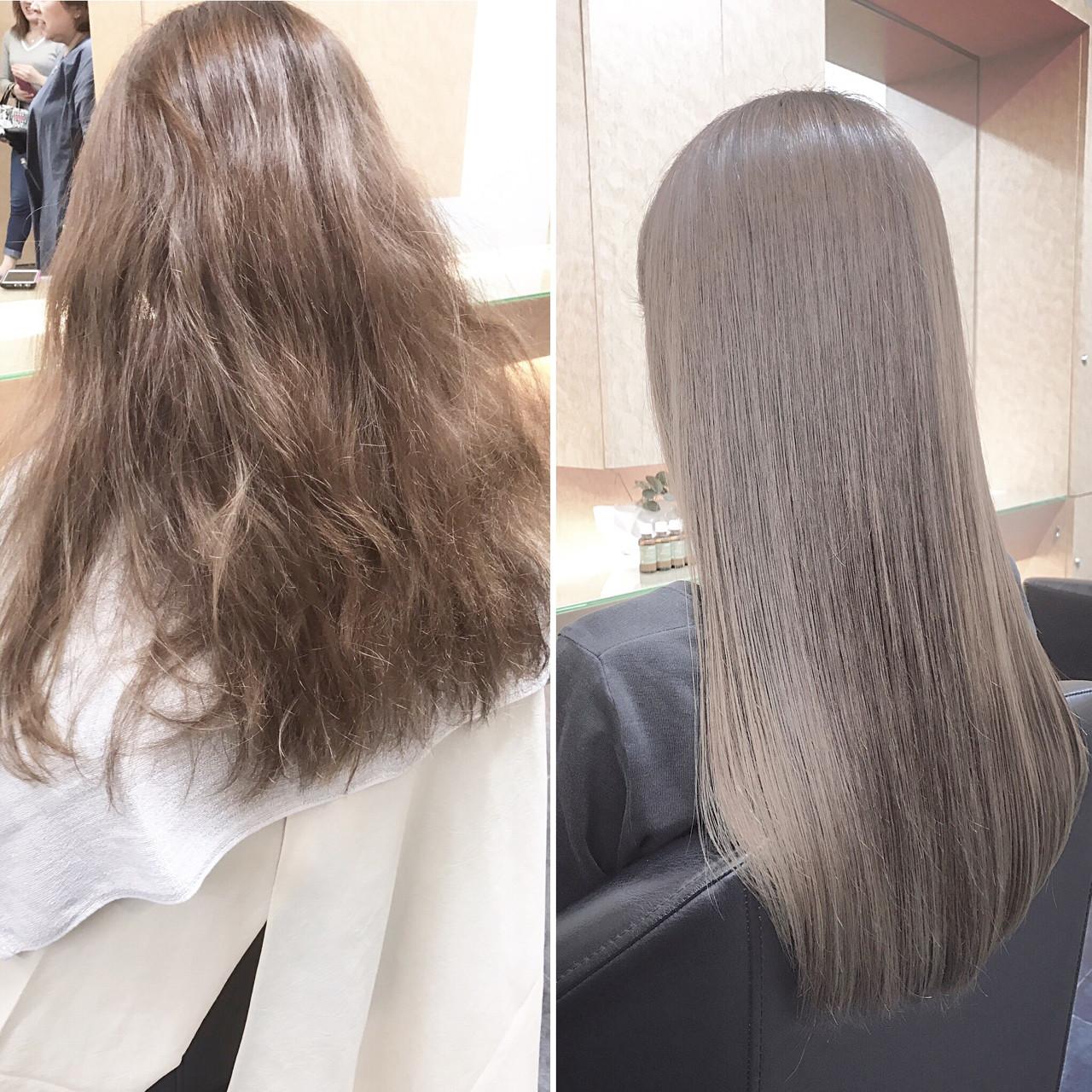 誰もが憧れるさらさらストレートの髪型5