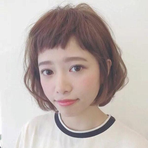 前髪ありのボブパーマ4