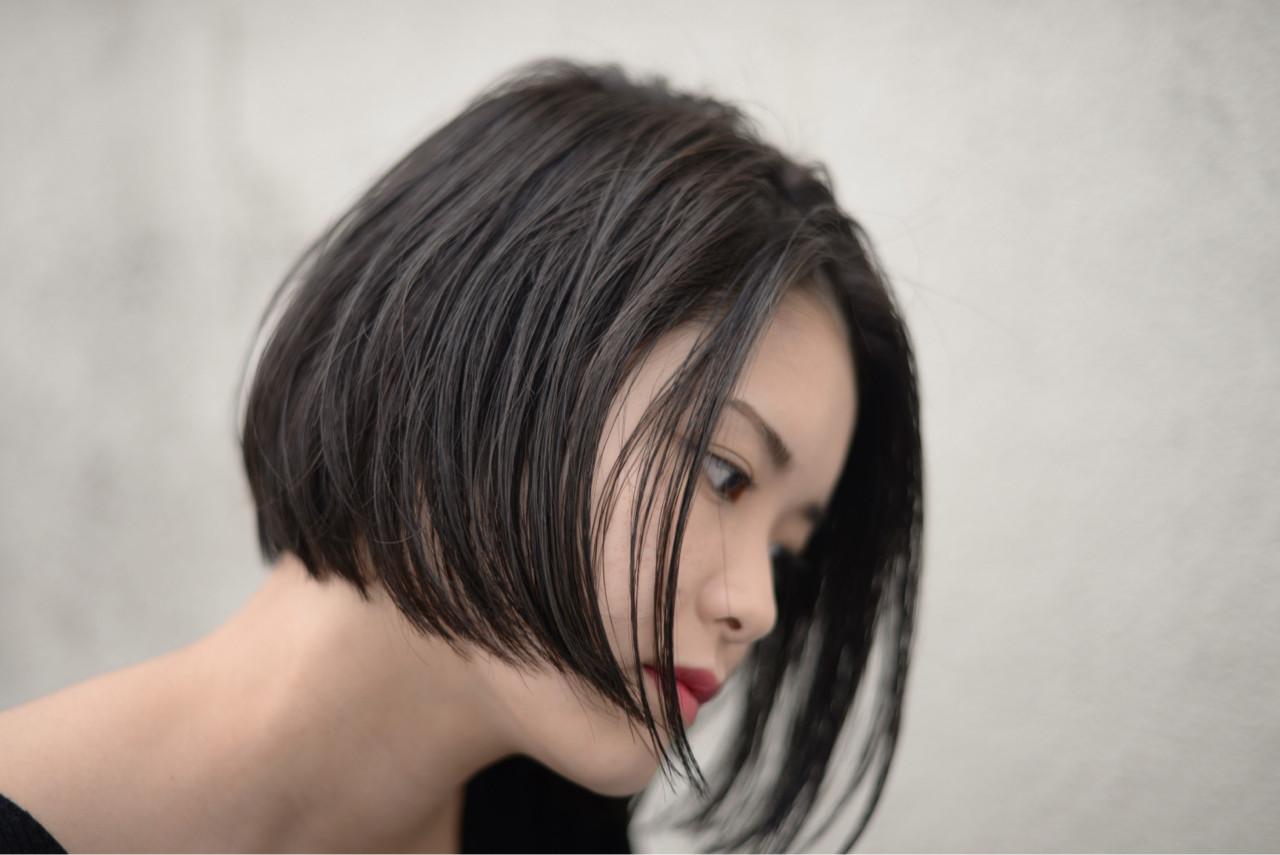 ショートボブのヘアアレンジ33