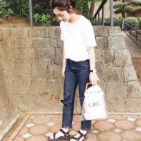 白Tシャツ×デニムのシンプルな「栄作コーデ」!おしゃれに見えるコツをご紹介!