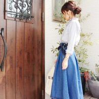 GUの子どもっぽくならないデニムスカートコーデ☆デザイン豊富でお気に入りが見つかる♡