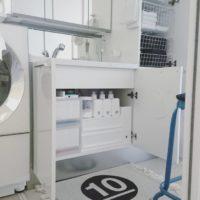 無印良品やニトリ、100均アイテムで解決!スペースを無駄なく使うスッキリとした洗面台下収納
