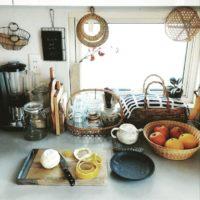 キッチンに抜群の存在感!日本伝統の竹細工のかごやザルでもっと暮らしをおしゃれに☆