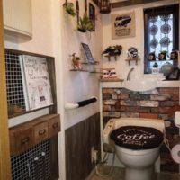 トイレもおしゃれな空間にしたい!100均DIYで華麗に大変身♡