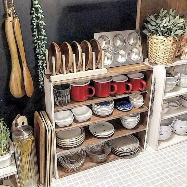 キッチン収納アイデア④ 食器類収納実例2