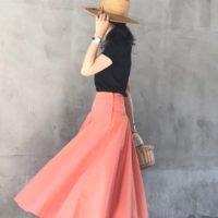ユニクロのフレアスカートで大人可愛く♡夏のフレアスカートコーデ☆