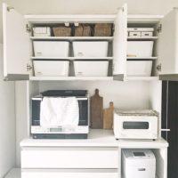 憧れのホワイトインテリア♡いつまでもキレイを保つキッチンの収納術を紹介!