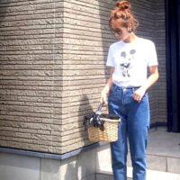 そのこなれ感はミッキーならでは♡大人可愛い「ミッキーTシャツ」コーデ集!
