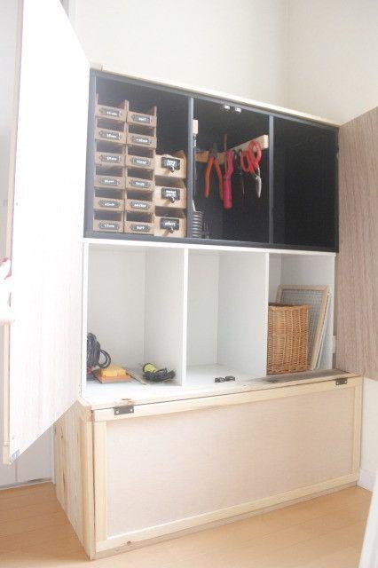 道具・小物類の収納棚