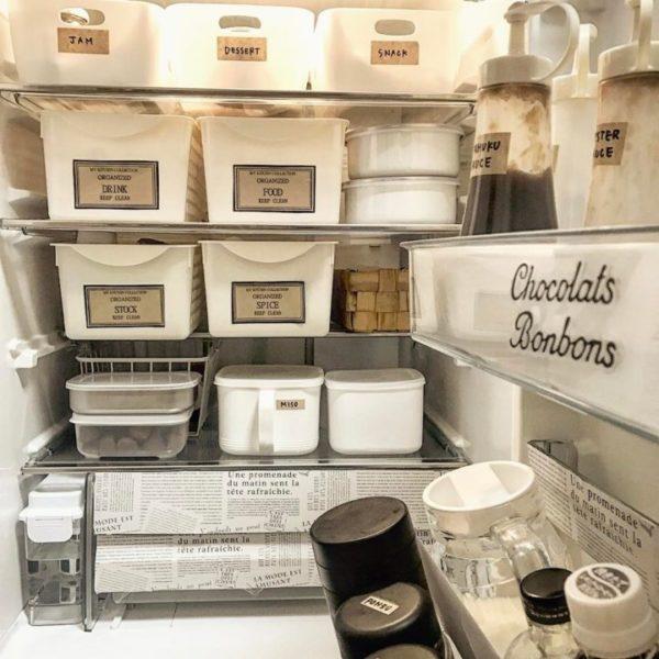 キッチン収納アイデア③ 冷蔵庫収納実例2