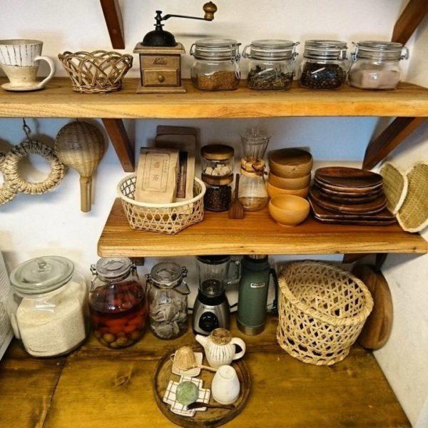 キッチン収納アイデア⑥ 壁面収納実例4