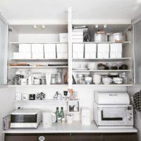 キッチンの吊戸棚&食器棚の便利で素敵な収納シーンをお見せします♡
