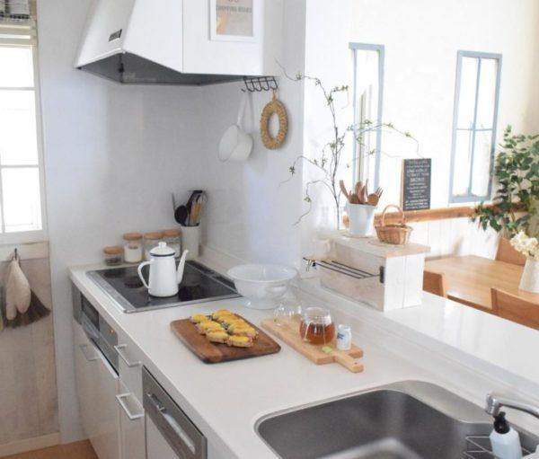 キッチン収納アイデア⑦ 吊り下げ収納実例8