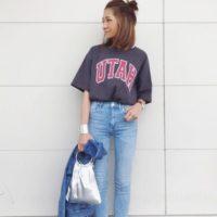 スキニー&ワイド☆2大デニムパンツを使っておしゃれなコーデを♡