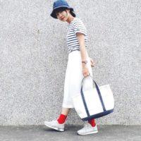 スカートはスニーカー合わせでカジュアル可愛く♪夏のスカート×スニーカーコーデ15選!!